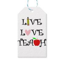 live love teach3 gift tags