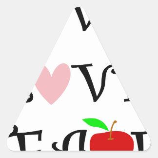 live love teach3 triangle sticker