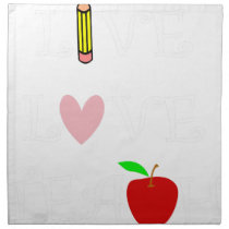 live love teach4 cloth napkin