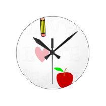 live love teach4 round clock