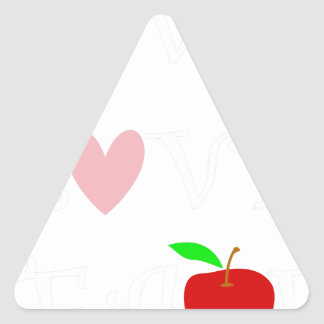 live love teach4 triangle sticker