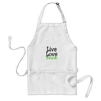 Live Love Teach Adult Apron