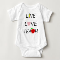 live love teach baby bodysuit