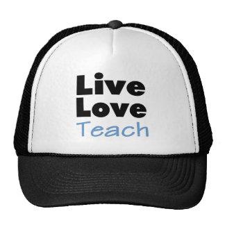 Live Love Teach (blue) Trucker Hat
