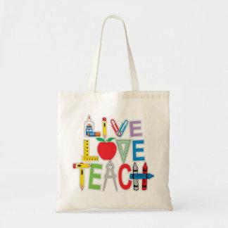 Live Love Teach Budget Tote Bag