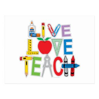 Live Love Teach Post Cards