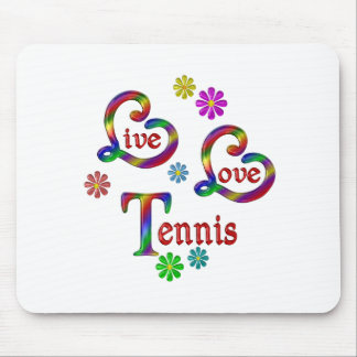 Live Love Tennis Mouse Pad