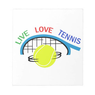 LIVE LOVE TENNIS NOTEPAD