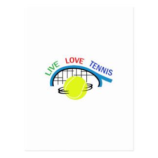 LIVE LOVE TENNIS POSTCARDS