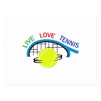 LIVE LOVE TENNIS POST CARD