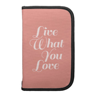 Live Love Typography Quotes Gift Salmon Planner