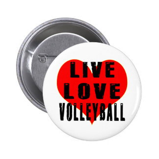 Live Love Volleyball Pinback Buttons