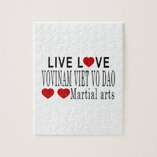 LIVE LOVE VOVINAM VIET VO DAO MARTIAL ARTS PUZZLE