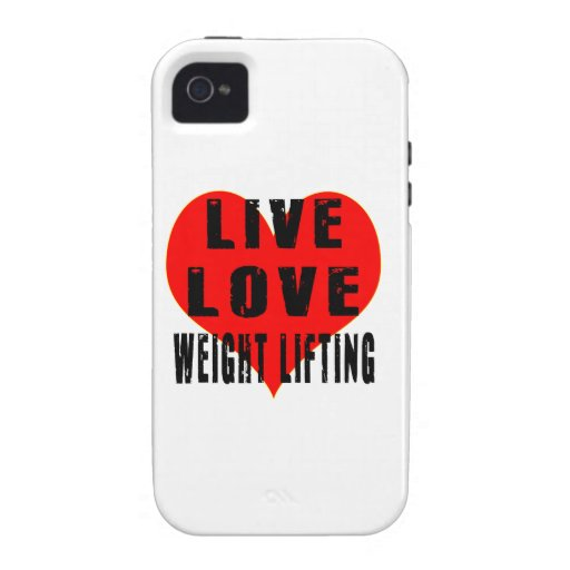 Live Love Weight Lifting Vibe iPhone 4 Cases