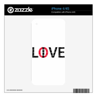 Live Love White.png iPhone 4 Skins