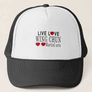 LIVE LOVE WING CHUN MARTIAL ARTS TRUCKER HAT