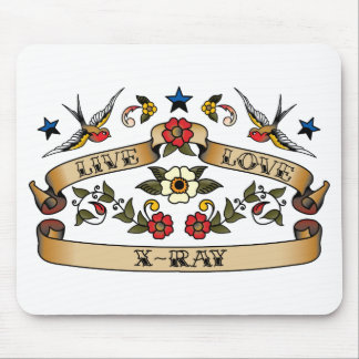 Live Love X-Ray Mouse Mat