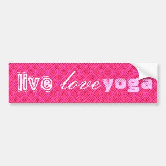 Live. Love, Yoga Bumper Stickers