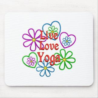 Live Love Yoga Mouse Pad
