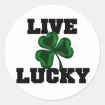 Live Lucky Classic Round Sticker