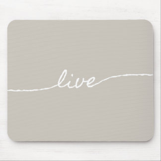 Live Minimalist Pastel Typographic Design Mouse Pads