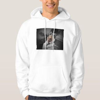 Live mole in hand smiling colorized bw.jpg pullover