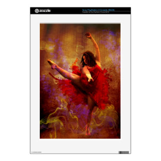 Live More / Dance Custom Gaming Playstation 3 skin Skin For The PS3