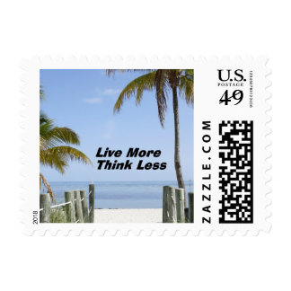 Live More Think Less Stamp