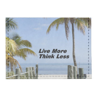 Live More Think Less Tyvek® Card Wallet