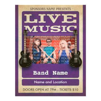 Live Music Band Photo Purple Flyer