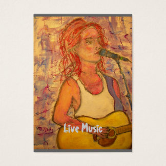 Live Music Business Card