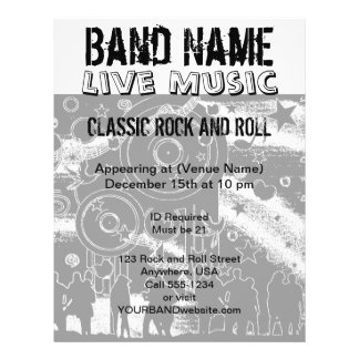 Live Music Concert   Party Band Flyer