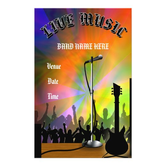 Live Music Concert/Party Flyer