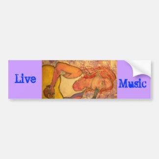 Live Music Girl Bumper Sticker