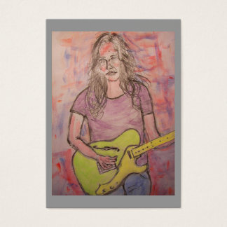 Live Music Girl Business Card
