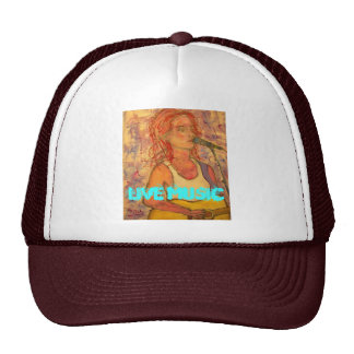 Live Music Girl Hat