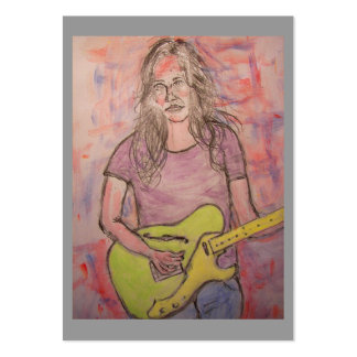 Live Music Girl Large Business Card