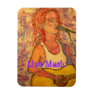 Live Music Girl Magnet
