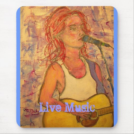 Live Music Girl Mouse Pad