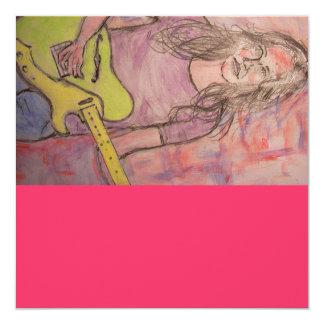 Live Music Girl Sketch Card