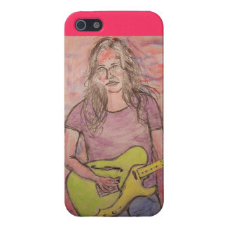 Live Music Girl Sketch Case For iPhone SE/5/5s
