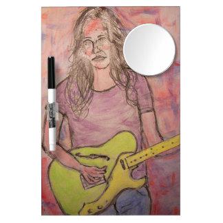 Live Music Girl Sketch Dry-Erase Board