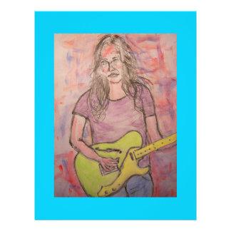 Live Music Girl Sketch Flyer