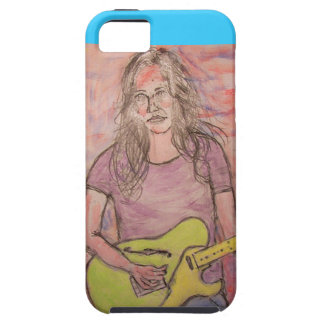 Live Music Girl Sketch iPhone 5 Case