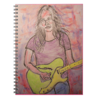 Live Music Girl Sketch Notebook