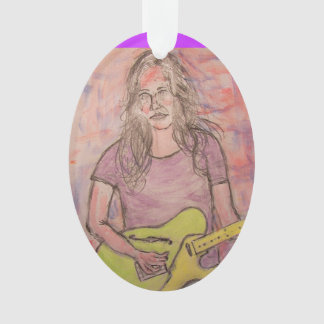Live Music Girl Sketch Ornament
