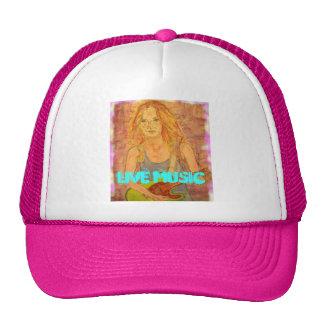 Live Music Girl Trucker Hat