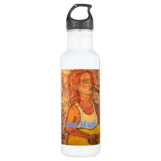Live Music Girl Water Bottle