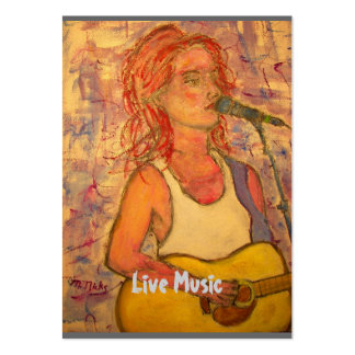 Live Music Large Business Card