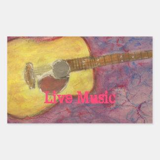 Live Music Rectangular Sticker